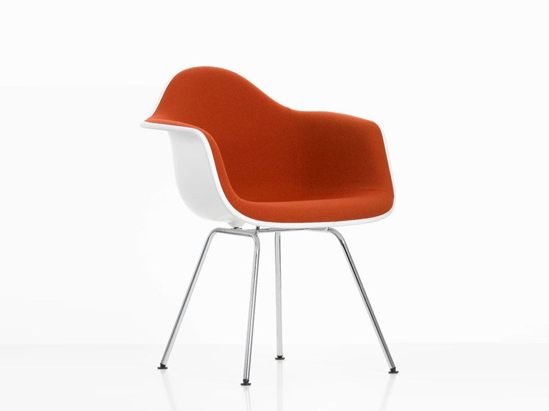 Upholstered fabric chair with armrests DAX | Upholstered chair by Vitra