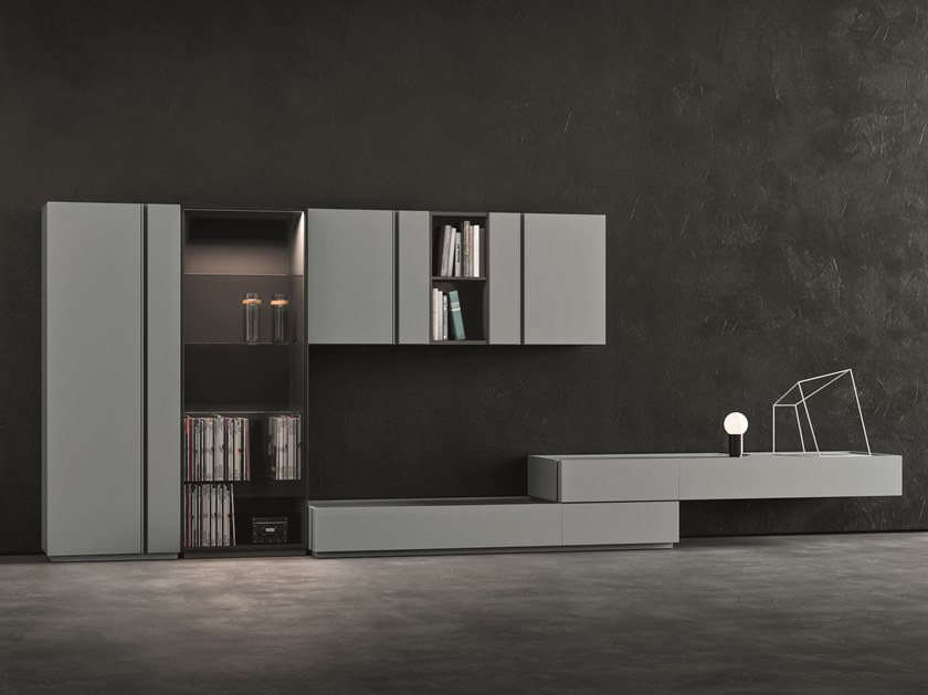 Sectional lacquered storage wall DAY MOOVE | Composition M509 by ZANETTE