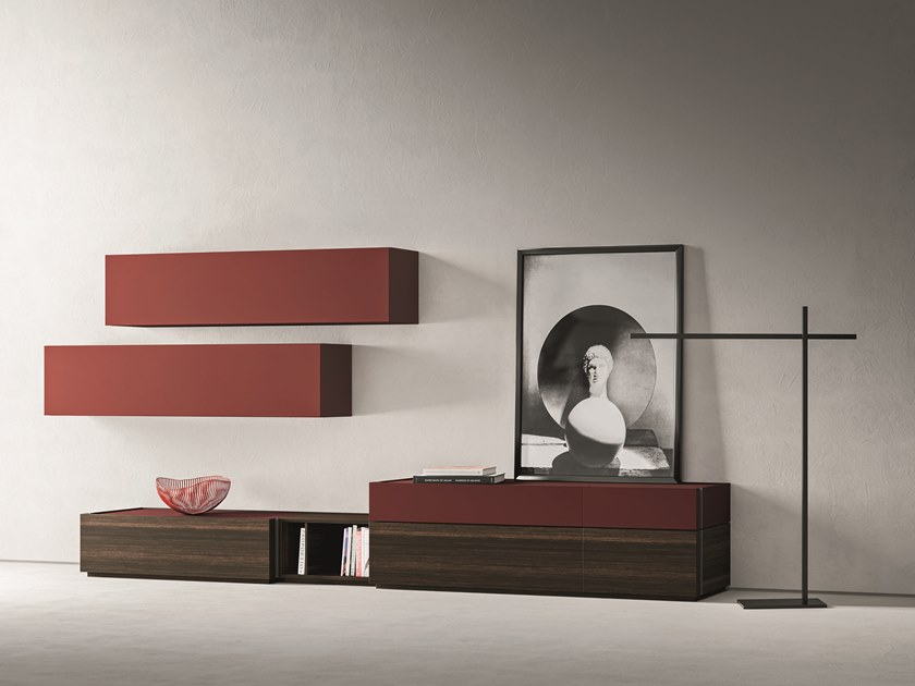 Sectional lacquered storage wall DAY MOOVE | Composition M510 by ZANETTE