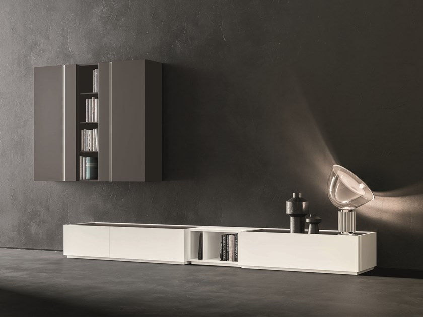 Sectional lacquered storage wall DAY MOOVE   Composition M511 by ZANETTE