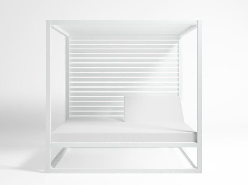 Lieblich Finest Style Canopy Double Recliner Aluminium Garden Bed Daybed Elevada Aluminium  Garden Bed By Gandia With Aluminium Sthle Garten