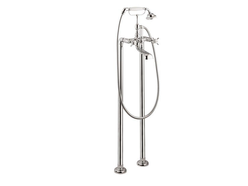 Floor standing bathtub set with diverter with hand shower DAYTIME | Floor standing bathtub set by newform