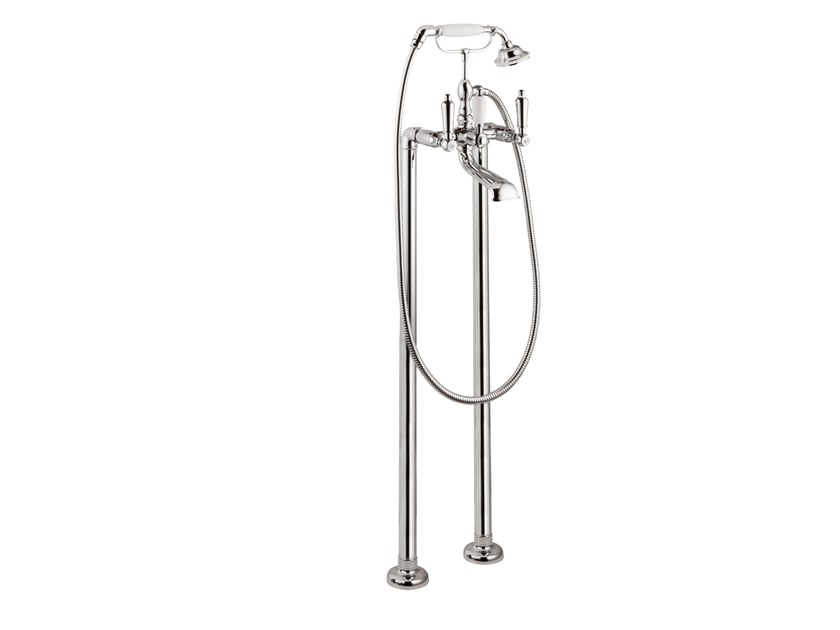 Floor standing bathtub set with hand shower DAYTIME STYLE | Floor standing bathtub set by newform