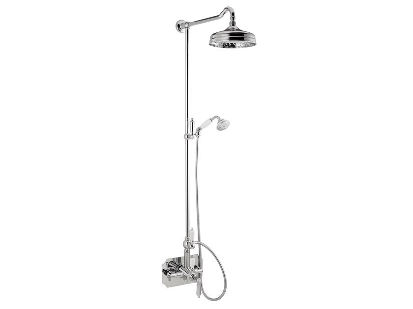 Wall-mounted thermostatic shower panel with hand shower DAYTIME STYLE | Wall-mounted shower panel by newform