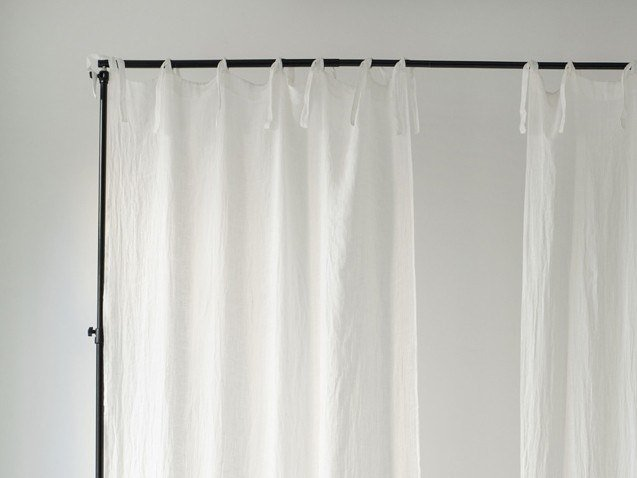 Solid-color linen curtain DAYTIME TIE TOP by Linen Tales
