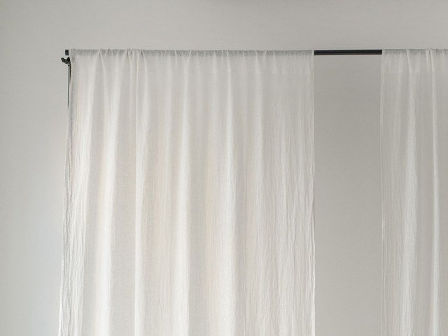 Solid-color linen curtain DAYTIME TUNNEL by Linen Tales