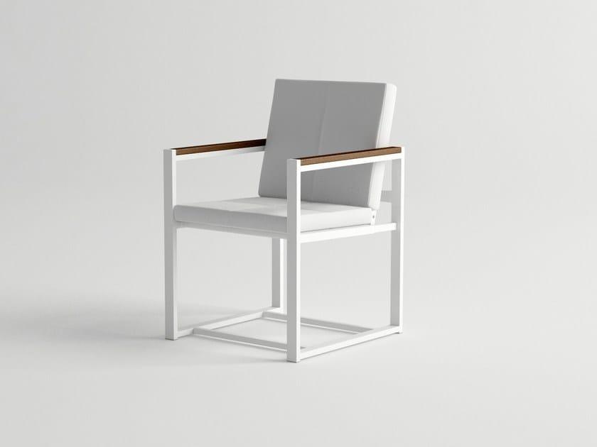 Aluminium garden chair with armrests DAYTONA   Garden chair by 10Deka