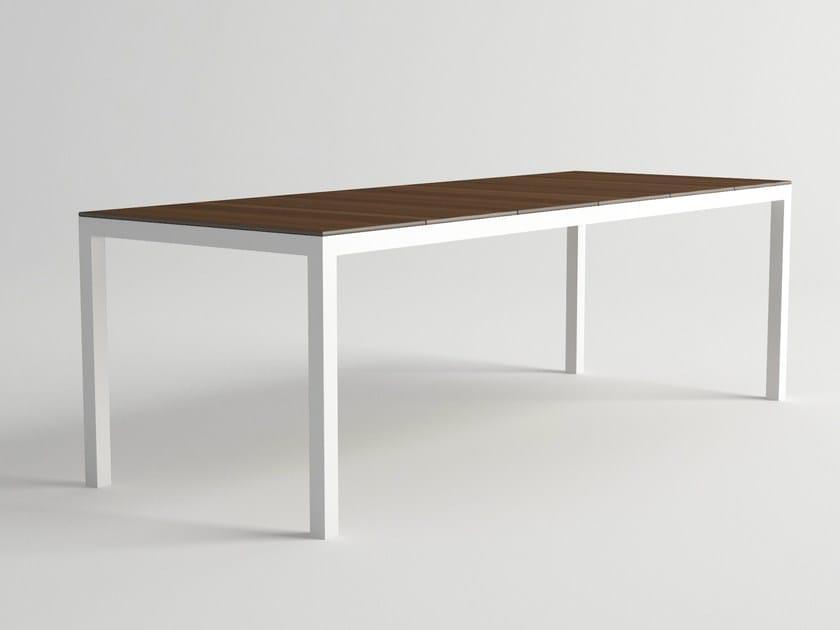 Aluminium and wood garden table DAYTONA | Garden table by 10Deka