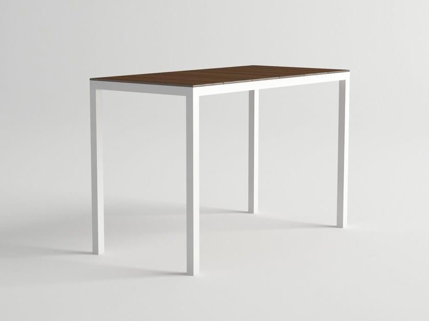 Aluminium and wood high table DAYTONA | High table by 10Deka