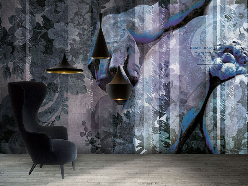 Vinyl or fyber glass wallpaper DD FLOWER by N.O.W. Edizioni