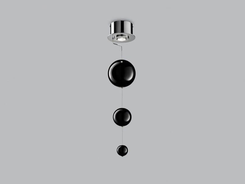 Lampada da soffitto in vetro soffiato BOLERO Ø 15 by Metal Lux