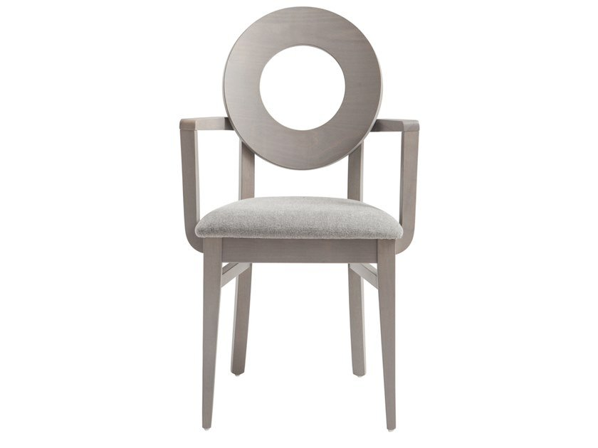 Beech chair with armrests DEA 47UP.i2 by Palma