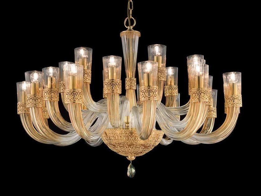 Crystal chandelier with Swarovski® Crystals DEA L12+6+6 by Euroluce Lampadari