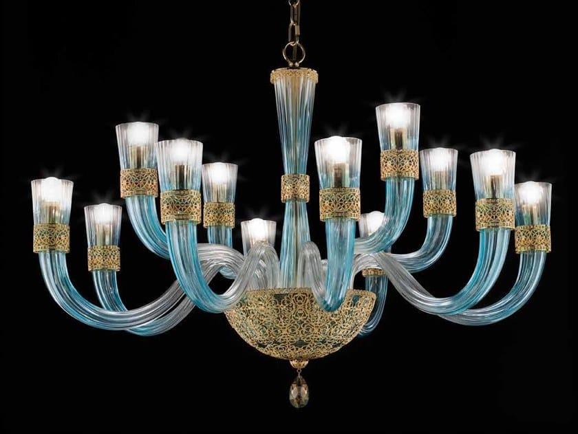 Crystal chandelier with Swarovski® Crystals DEA L8+4 by Euroluce Lampadari