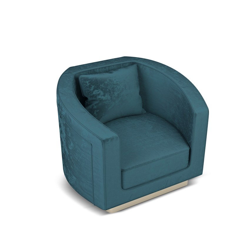 Contemporary style upholstered fabric armchair with armrests DEBBIE | Armchair by Ottiu