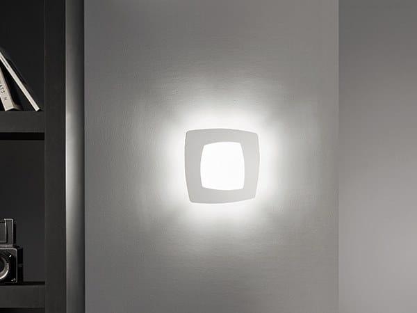 Debra quadra lampada da parete collezione debra by sforzin