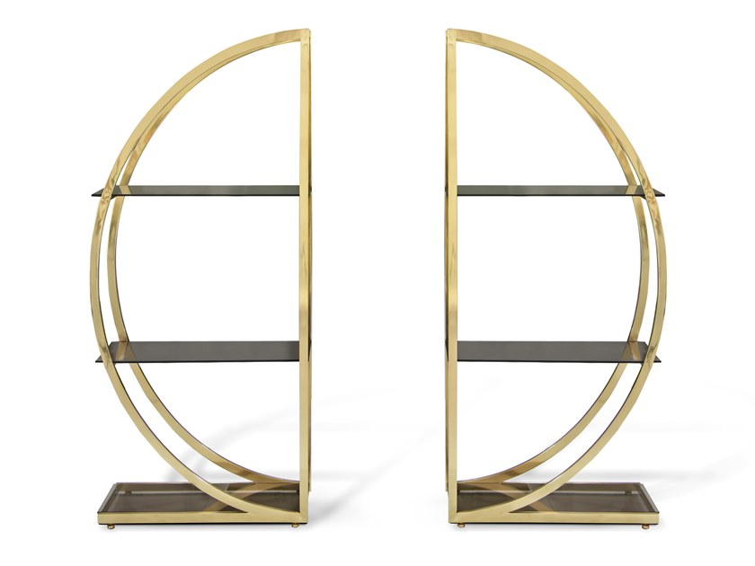 Open brass bookcase DECADENCE by KOKET