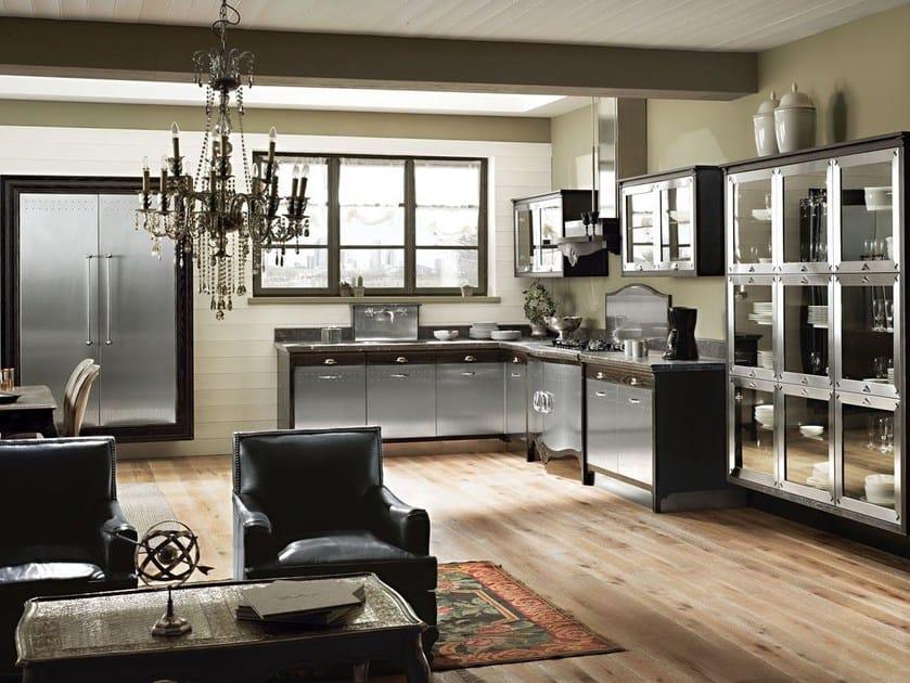 cucina componibile in acciaio inox dechora composizione 03 collezione dechora by marchi cucine. Black Bedroom Furniture Sets. Home Design Ideas