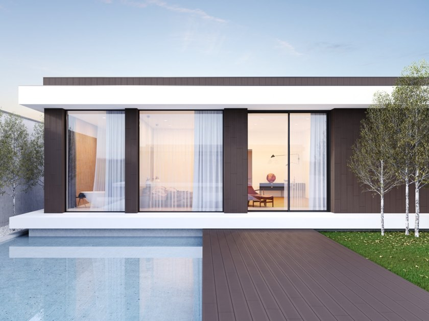 Outdoor porcelain stoneware wall/floor tiles with wood effect DECK by RECER