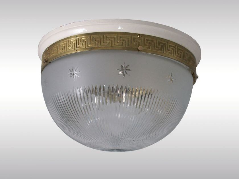 Classic style glass ceiling light DECKENLEUCHTE by Woka Lamps Vienna