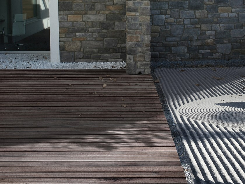 Adaxite decking LISTOTECH CHERRY WOOD by LISTOTECH DECKING QUARTZ