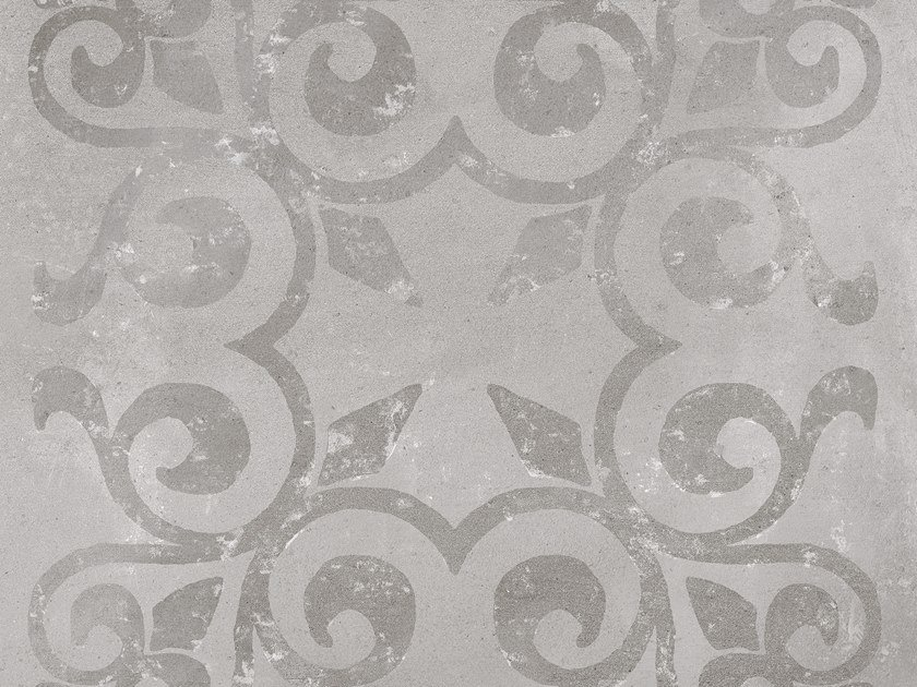 Porcelain stoneware wall/floor tiles with encaustic effect DECO HARLEM ACERO by PORCELANOSA
