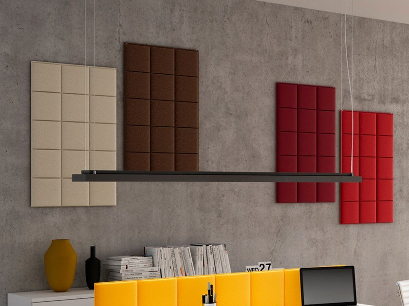 Fabric Decorative acoustic panel TETRIS | Decorative acoustic panel by CUF Milano