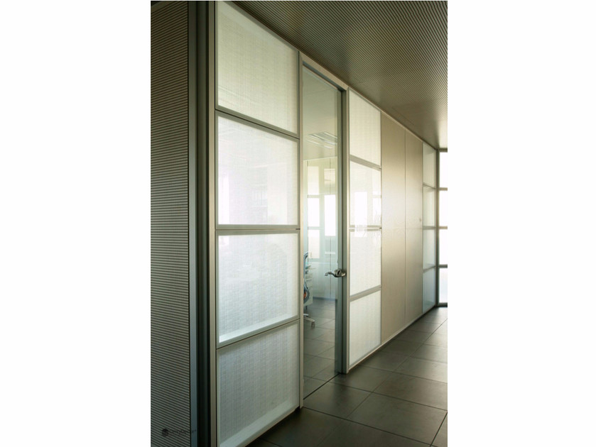 Decorated glass movable wall DECORFLOU® DESIGN CELS by OmniDecor®
