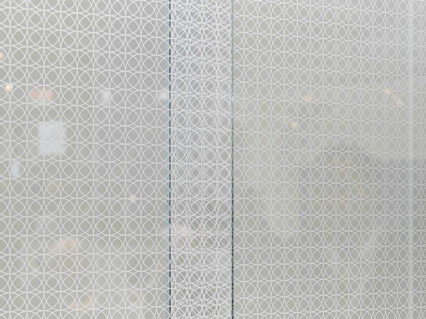 Decorated glass DECORFLOU® DESIGN CIRCLE ROYALE by OmniDecor®