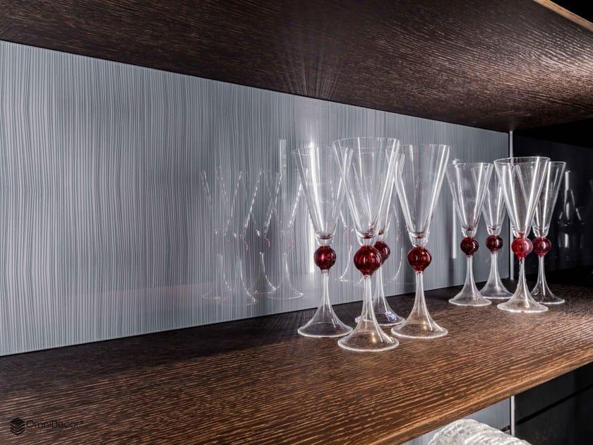 Decorated glass furniture foil DECORFLOU® DESIGN NUVEM by OmniDecor®