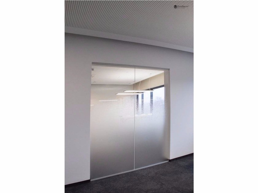 Decorated glass door DECORFLOU® FADE by OmniDecor®