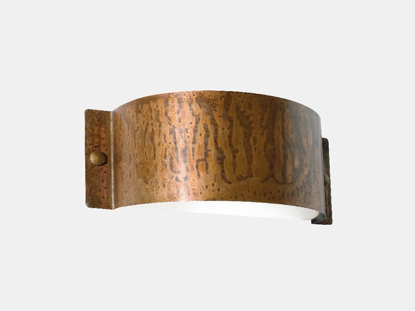 Direct-indirect light copper Outdoor wall Lamp DECORI 252.01.RR/252.02.RR by Il Fanale