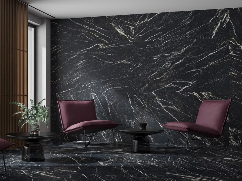 Wall/floor tiles with marble effect DEEP 4D by Museum