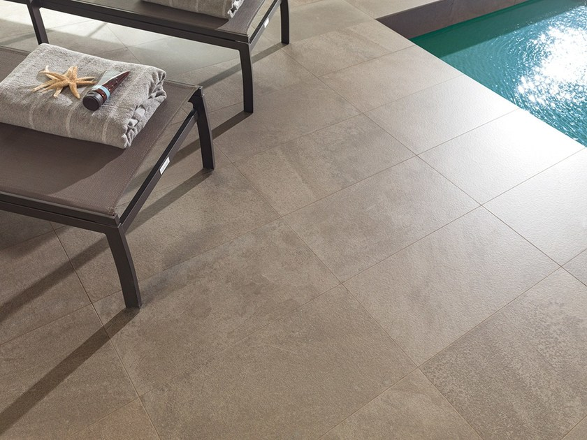 Porcelain stoneware wall/floor tiles with stone effect DEEP BROWN by URBATEK
