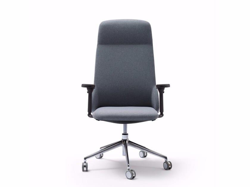 Poltrona Ufficio Elegante : Deep poltrona ufficio direzionale con schienale alto collezione