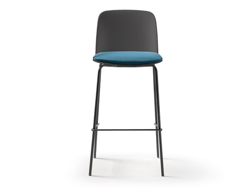 Barstool with footrest DEEP PLASTIC | Barstool by Quinti Sedute