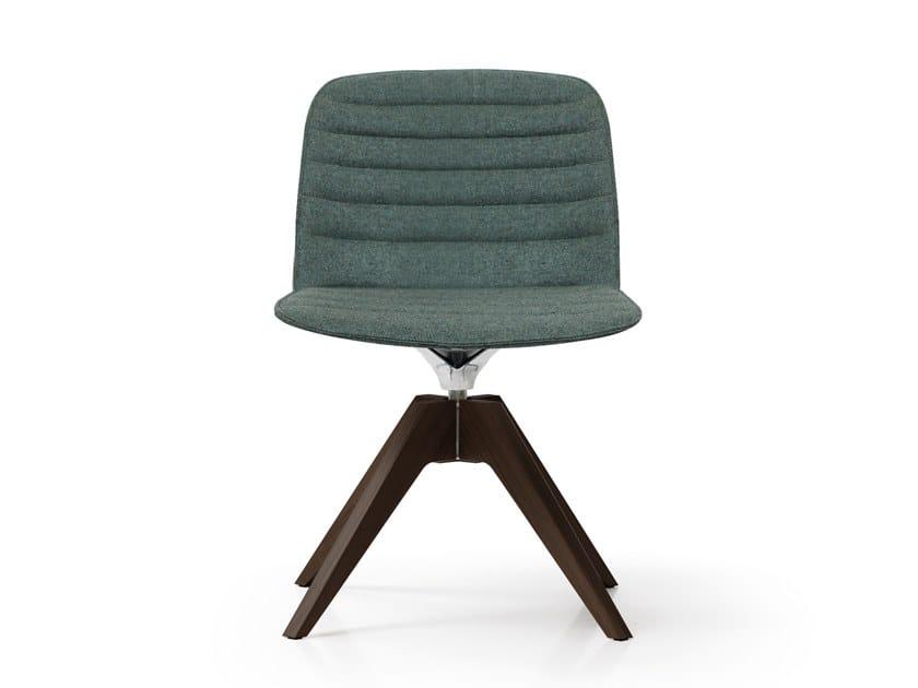 Swivel trestle-based chair DEEP PLASTIC | Trestle-based chair by Quinti Sedute