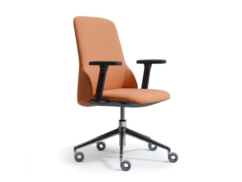 Sedie Da Ufficio Con Braccioli Senza Ruote : Deep sedia ufficio operativa con braccioli collezione deep by