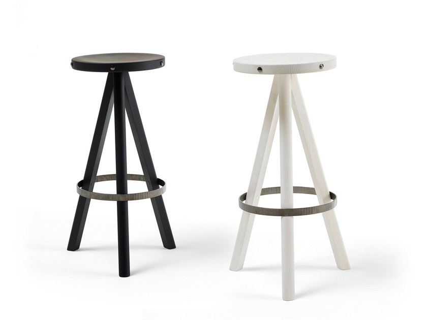 Ash stool DEGABELLO by Opinion Ciatti