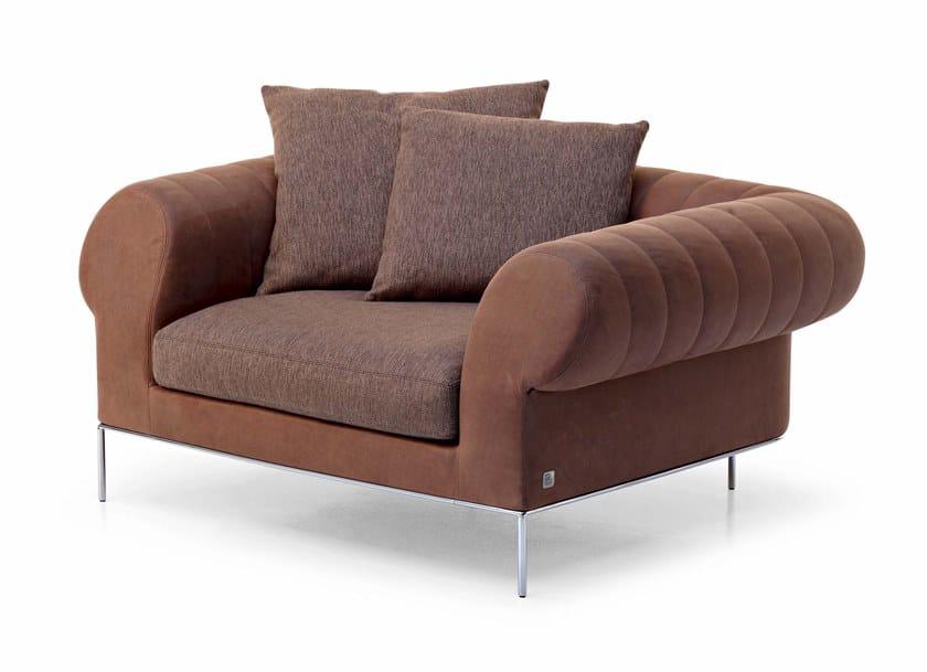 Fabric Armchair With Armrests DÉJÀ VU | Fabric Armchair By Busnelli