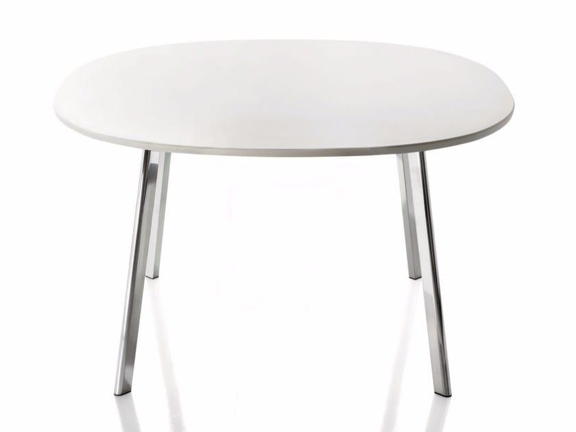Round HPL table DEJÀ-VU | Round table by Magis
