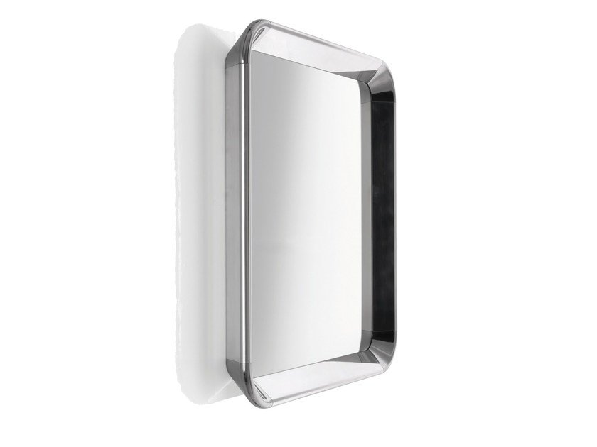 Square wall-mounted framed mirror DEJÀ-VU | Square mirror by Magis