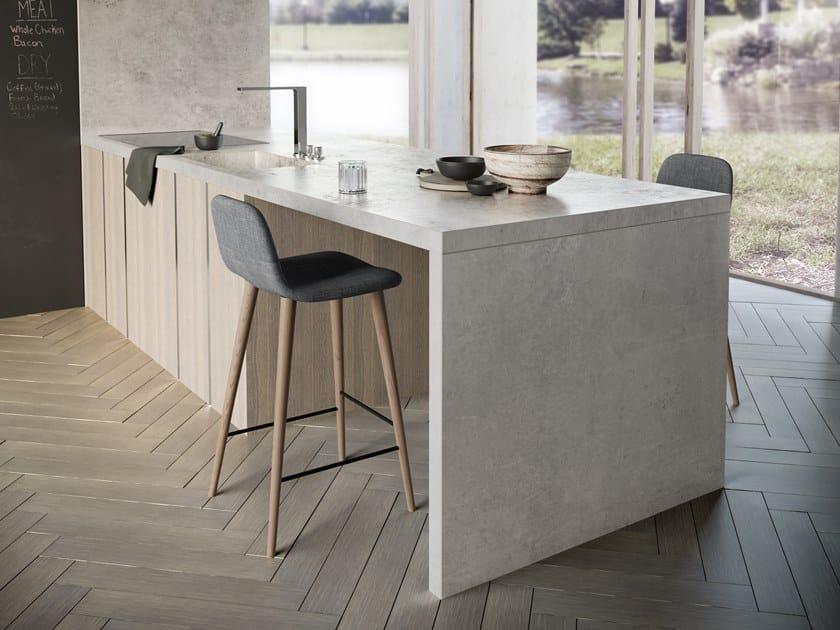 Furniture foil with concrete effect DEKTON® KRETA by Cosentino