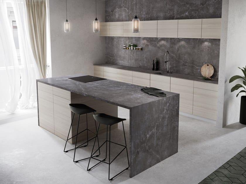 Furniture foil with concrete effect DEKTON® LAOS by Cosentino