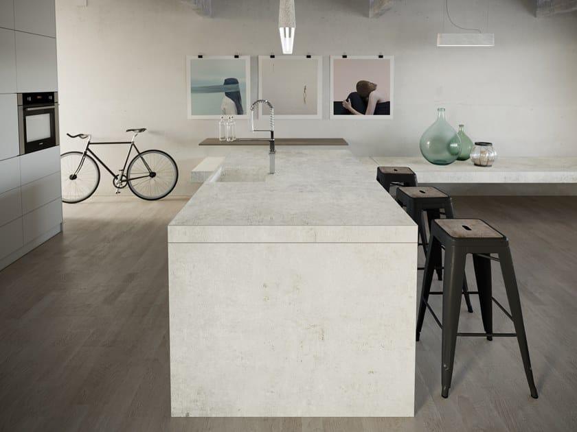 Revestimento para móveis com efeito concreto DEKTON® LUNAR by Cosentino