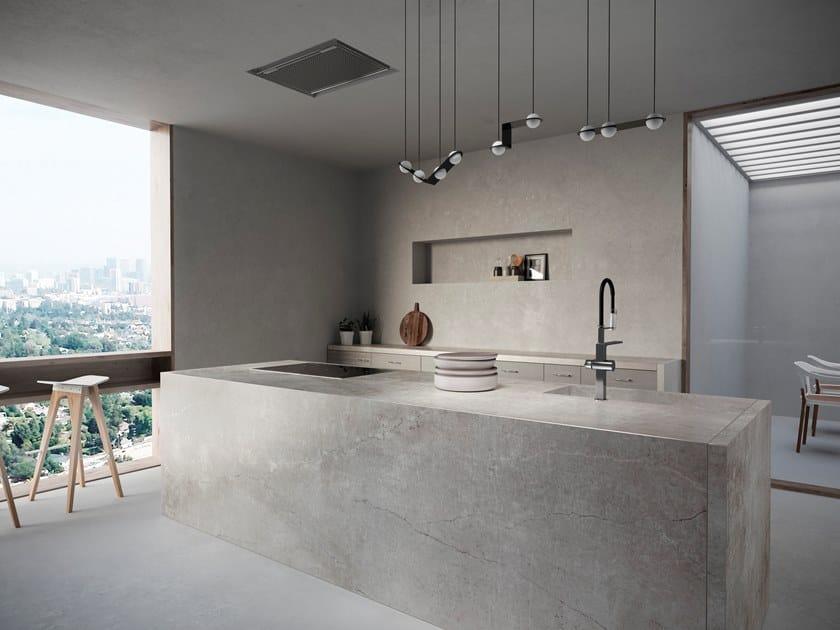 Furniture foil with concrete effect DEKTON® SOKE by Cosentino