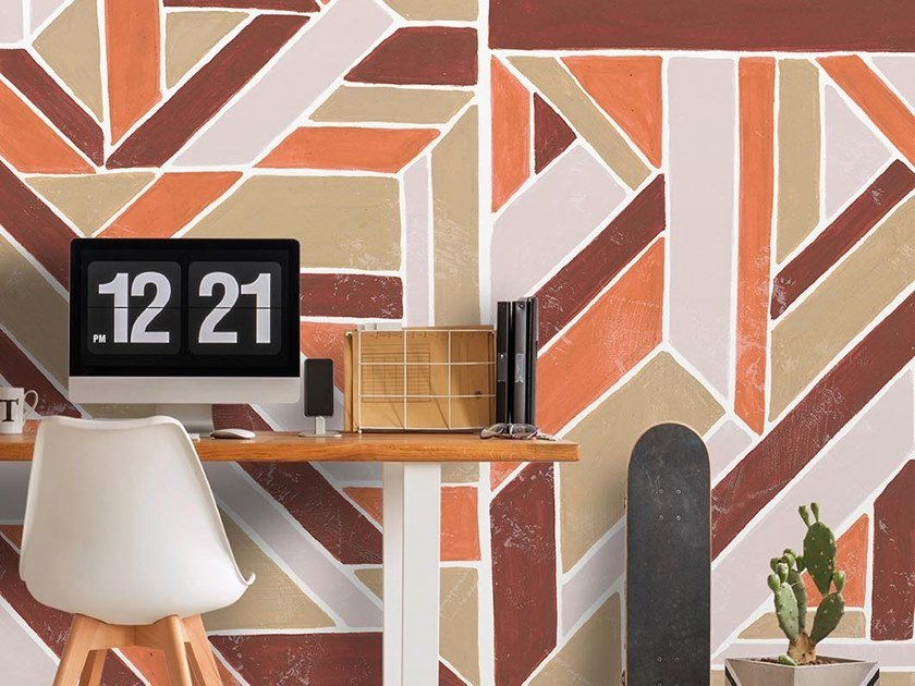 Industrial and modern wallpaper, PVC free, eco, washable DELAUNAY WALL by Wallpepper