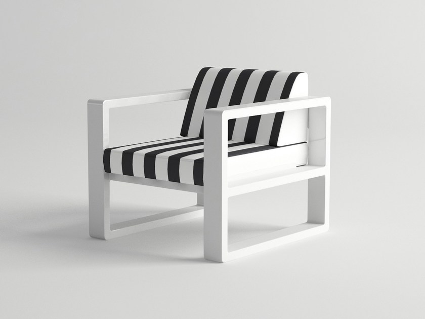 Aluminium garden armchair with armrests DELAZ | Garden armchair by 10Deka
