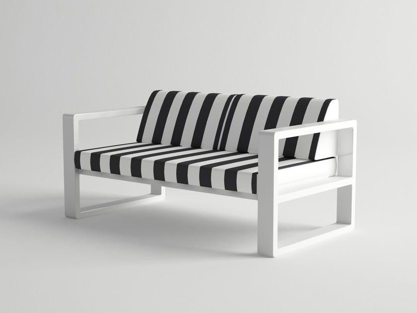 2 seater aluminium sofa DELAZ | Sofa by 10Deka