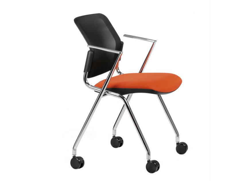 Task chair with casters DELFI NET 075 R by TALIN